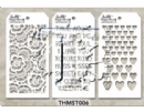 MTHS006 Stampers Anonymous Tim Holtz Layering Stencil - Mini Stencil Set #6